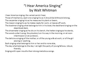 I+Hear+America+Singing+by+Walt+Whitman